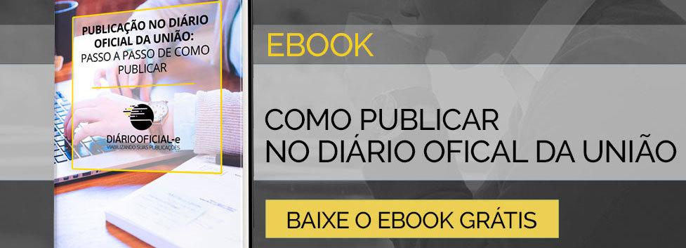 Como publicar no diário oficial